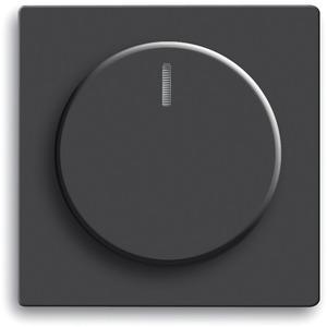 Bedienelement mit Glimmlampe für Drehdimmer 102 schwarz matt