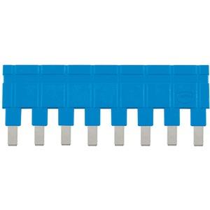 Steckbrücke längs 1x8 blau 16A