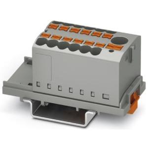 Verteilerblock senkrecht mit integrierter Einspeisung 13 x 2,5mm² grau