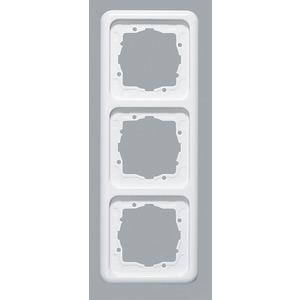 Abdeckrahmen 3-fach ultraWeiß waag/senkr. Montage 222,5 x 80,5 mm