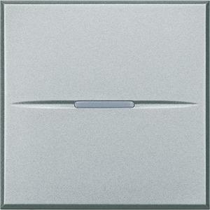 AXOLUTE Taster 250 V AC 10A 2-modulig Aluminium