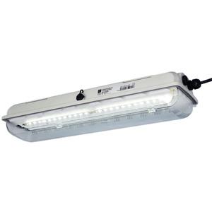 Langfeldleuchte mit LED Reihe EXLUX 6002 52W mit Diffusor L = 1310 mm