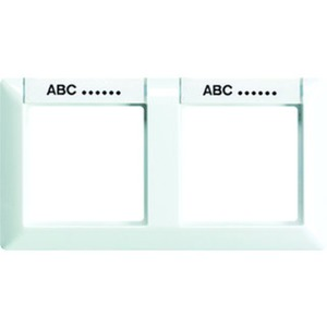 Rahmen 2-fach Schriftfelder 13 x 55,5 mm für waagerechte Kombination
