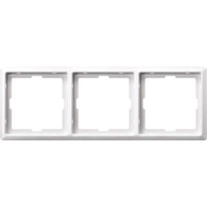 Abdeckrahmen 3-fach polarweiß glänzend ARTEC