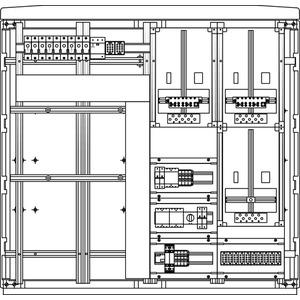 Kabel-Hausanschluss-Zählerverteiler Freistehend 1115x1065x322mm