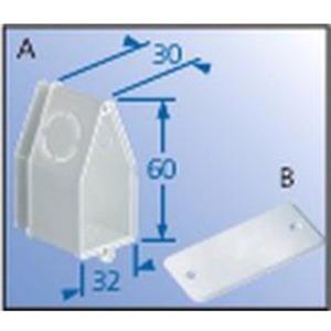 Unterputz Wandleuchten-Anschlussdose 60 x 32 x 30 mm mit Deckel
