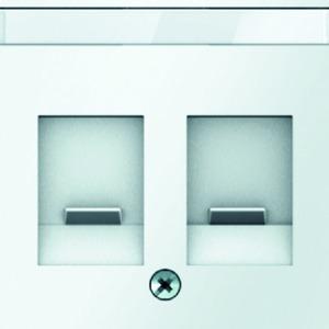Zentralstück mit Staubschutzschiebern und Beschriftungsfeld Q.1 weiß