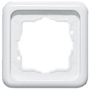 Abdeckrahmen 1-fach Weiß waag/senkr. Montage 80,5 x 80,5 mm