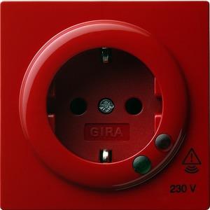Gira SCHUKO-Steckdose Überspannungsschutz für S-Color rot