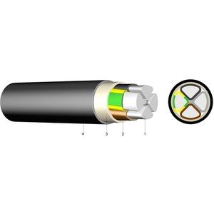 HDPE Aluminium-Erdkabel E-AY2Y-J 4x25 RE