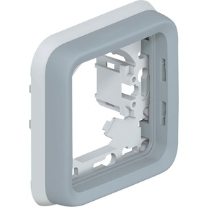 FR Abdeckrahmen 1-fach Feuchtraum Aufputz Plexo 55 grau