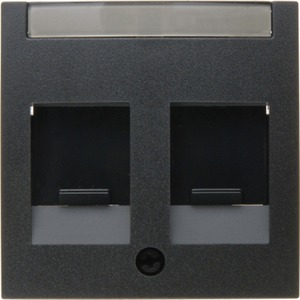 Zentralstück mit Staubschutzschiebern und Beschriftungsfeld B1/B3/B7