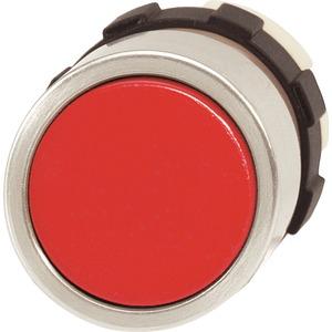 Drucktaste rot mit Frontring alufarben