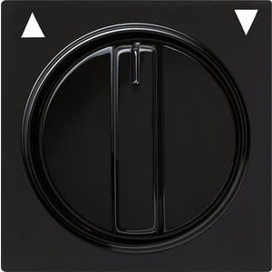 Abdeckung Knebel für Jalousieschalter für S-Color schwarz