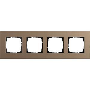 4-fach Abdeckrahmen für Esprit Linoleum-Multiplex hellbraun