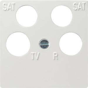 Zentralplatte 4-fach fuba ECG Astro System 55 reinweiß