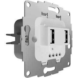 UP Ladestation mit 2 USB-Anschlüssen f. TAE-Abdeckung 12W 2,4A reinweiß glänzend