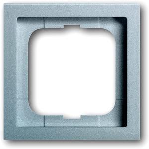 Abdeckrahmen future 1-fach Linear Aluminium matt