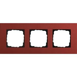 3-fach Abdeckrahmen für Esprit Linoleum-Multiplex rot