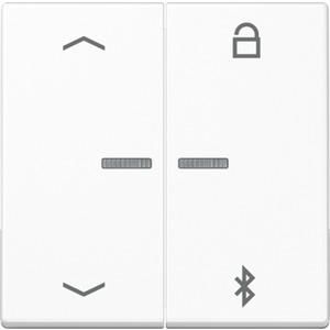 Timer Universal Bluetooth Symbole Pfeile Duroplast glänzend alpinweiß