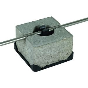 Dachleitungshalter für Flachdächer Betonstein 100x100x70 mm