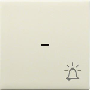 Wippe mit Kontrollfenster und Klingel-Symbol Creme