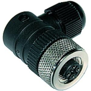 Leitungsdose gewinkelt M12 4-polig Leitungsdurchmesser 3 - 6,5 mm