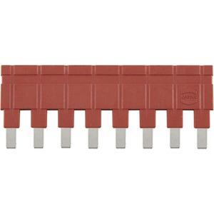 Steckbrücke längs 1x8 rot 16A