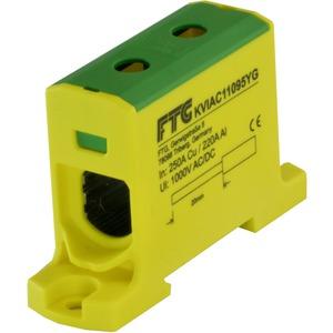 Kompaktaluklemme 1-pol. Cu/AL 6-95mm² 250/200A 1/1 gelb-grün