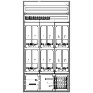 Kunststoff-Zählerverteiler 800x1554x225 mm