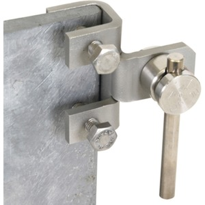 Anschlussklemme senkrecht mit KS-Verbinder Rd 6-10 mm NIRO