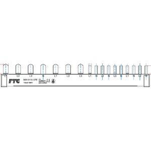 Phasenschiene 1xFI-4P/3xLS-1P/5xLS-1N(Schmalbau 1TE) = 12TE für Wohnungsvert.