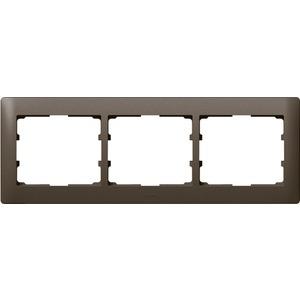 Rahmen 3-fach waagerecht Galea dark bronze