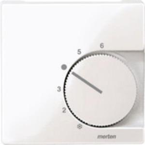 Merten Zentralplatte für Raumtemperaturregler-Einsatz mit Wechselkontakt