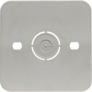 Selbstverlöschende Bodenplatte Aufputz weiß für 1-fach Apparate