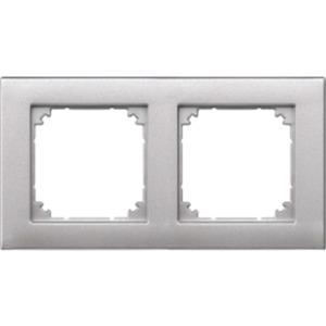Abdeckrahmen 2-fach aluminium matt