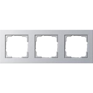 3-fach Abdeckrahmen für E2 Farbe Aluminium