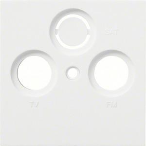 Zentralabdeckung kallysto f. Antennendose 2-fach / 3-fach brillantweiß