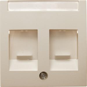 Zentralstück mit Staubschutzschiebern und Beschriftungsfeld S.1 weiß