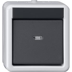 KNX Taster-Busankoppler Aufputz WG 1-fach mit Einpunktbedienung