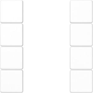 Tastensatz komplett 4-fach Serie A / AS alpinweiß