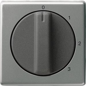 Abdeckung Knebel 3-Stufen 0/1/2/3 für E22 Edelstahl