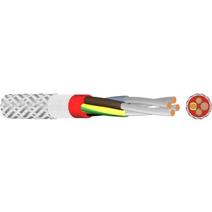 Silikon Schlauchltg.mit Stahldraht-u.Glasseidengefl.SIHF/GL/P 2x0,75
