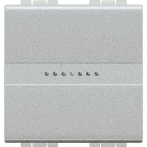 LIVINGLIGHT Taster 250V AC 10A 2-modulig Aluminium