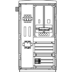 Freileitungs-Hausanschluss-Zählerverteiler Freistehend 440x836x322mm
