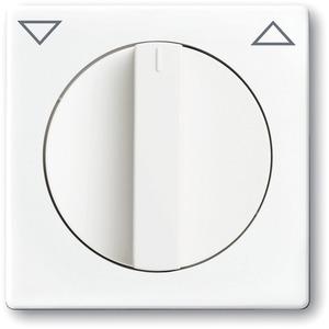 Abdeckung für UP-Jalousieschalter/-taster mit Drehgriff studioweiß