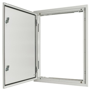 UP Feuchtraum Türrahmen grau mit Tür und Drehriegelverschluss 400/10