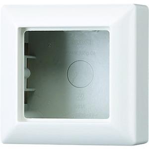 Aufputz-Kappe 1-fach integrierte mit angeformter Rahmen weiß