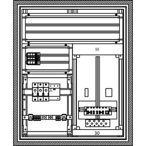 Kabel-Hausanschluss-Zählerverteiler Freistehend 550x679x225mm