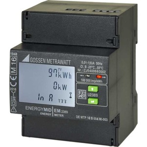 MID Energiezähler 4-Leiter-Netz  3x230 / 400 V LCD 5 (80) A Direkt